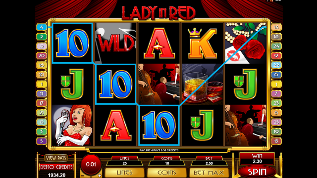 Игровой автомат Lady In Red 10