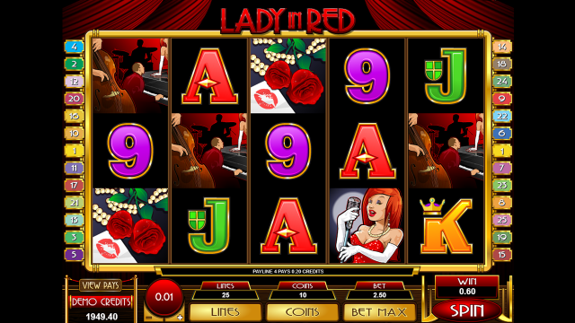 Игровой автомат Lady In Red 9
