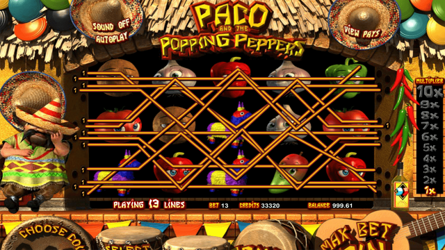 Игровой автомат Paco And Popping Peppers 1