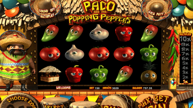 Игровой автомат Paco And Popping Peppers 10